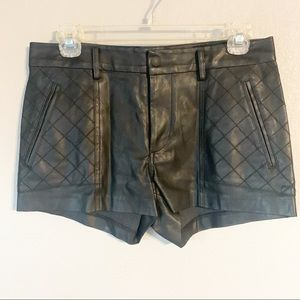 Dolce Vita faux leather shorts